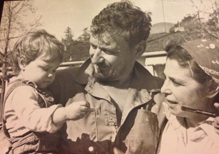 A Baby Me with Grandpa Bob & Grandma Lee