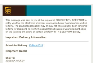 shipment notification email