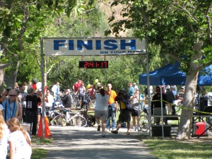 it's ok to be alone at the finish line